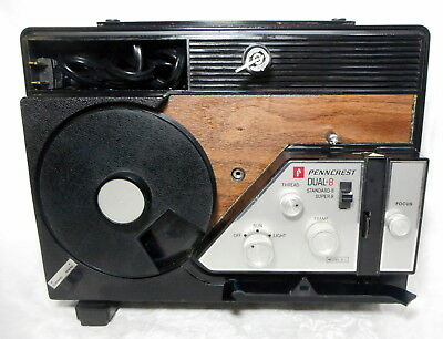 Working Dual 8mm Super 8 Autoload Movie Projector USA Made