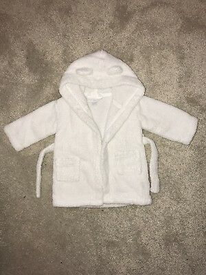 The Little White Company White Dressing Gown 0-6 Months