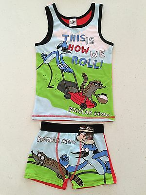 regular show rigby and mordecai underwear cartoon network shorts vest kids child