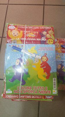 Teletubbies giornaletto da colorare con penna magica