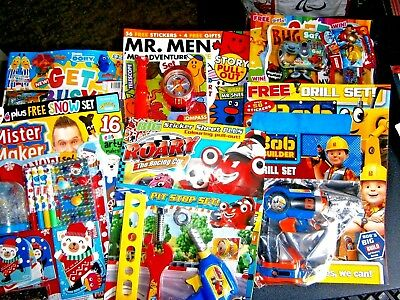 Kids Magazines x 6 All Boys (New) With Free Gifts
