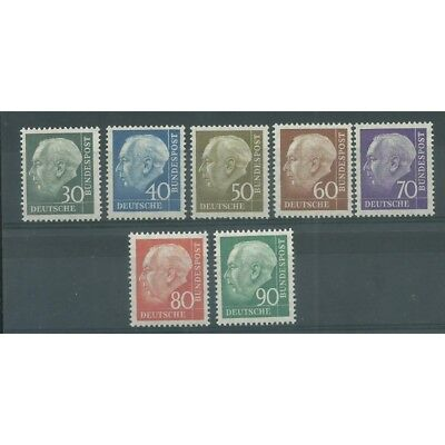 1956 Germania Federale Effige Theodor Heuss 7 Valori Mnh Mf27617