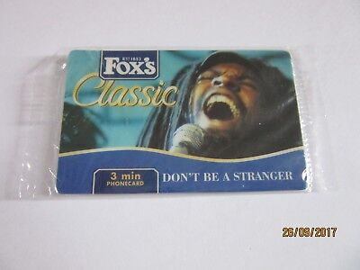 Fox's Classic (Biscuits) - New/Sealed 3 Minute Phonecard - Don't Be A Stranger !