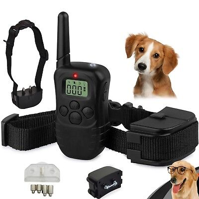 LCD Electric Shock E-Collar Remote Control Dog Training Anti-Bark