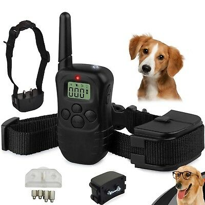 Rechargeable LCD Electric Shock E-Collar Remote Control Dog Training Anti-Bark