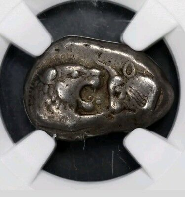 Lydia Croesus Half-Stater or Siglos NGC Choice VF 5/5 ancient silver coin