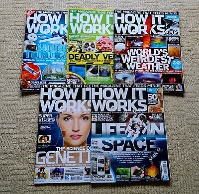 5x How It Works Magazines - Excellent Condition Bundle - Space, Weather, etc