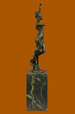 Hand Made Bronze 1930S Art Deco Metal Nude Dancer After Statue Figurine EX