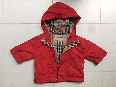 Burberry Red Raincoat/ Windstopper/ Jacket Baby 3 months/ 62cm - Adorable & Cute