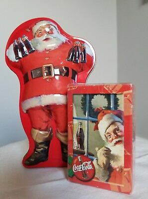 Coca-Cola Coke Santa Claus collectors Tin with sealed deck of cards