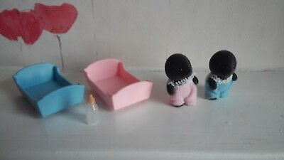Sylvanian Families Mcburrows Mole Babies One Boy and One Girl Baby