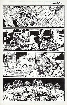 Kevin Eastman, Eric Talbot, Simon Bisley- Original Art Page The very angry seven