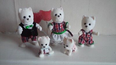 Sylvanian Families Mcwalkies Highland Terrier Dog Family and Babies