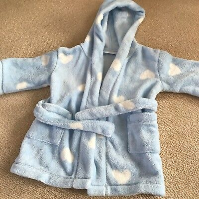 The Little White Company Baby Boy Dressing Gown 12-18 Months