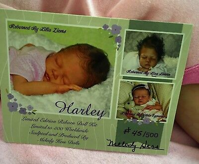 Sleeping Harley Melody Hess Sherry's Loveable Baby's .. Long Sold Out Kit!