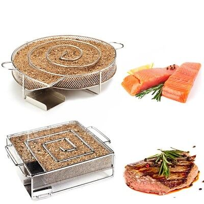 Cold Smoke Generator Charcoal Barbecue Grill Cooking Tools Wood Chip Smoker