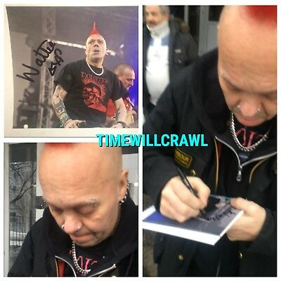 WATTIE BUCHAN SIGNED 15x20 CM THE EXPLOITED IN PERSON 2018 PHOTO PROOF AUTOGRAPH