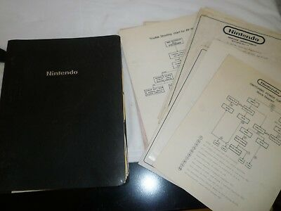 Nintendo Service Package binder loaded with schematics, service bulletins, ect