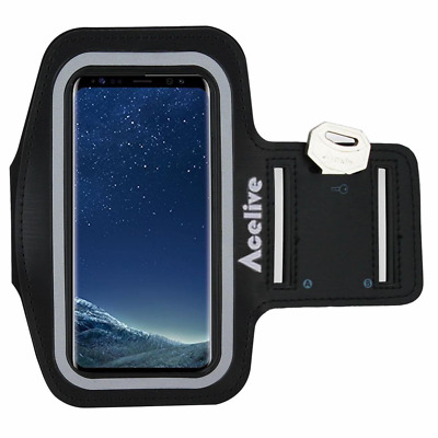 Acelive Neoprene Sport Armband Case Cover for Samsung Galaxy S8 Suitable for Act