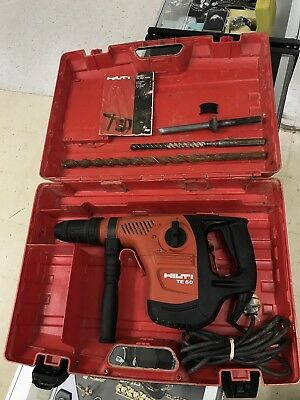 Hilti TE 50 Rotary Hammer Drill Combihammer w/ 3 Bits & Carrying Case