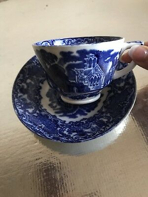 Vintage Abbey George Jones &son Abbey 1790 Tea cup and saucer