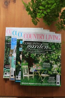 UK COUNTRY LIVING MAGAZINE 2017 *BUNDLE* - May, June, July, August Issues