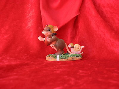 "CHARMING TAILS   ""TOUCHDOWN""  MOUSE WITH FOOTBALL  #3831 of 8000"