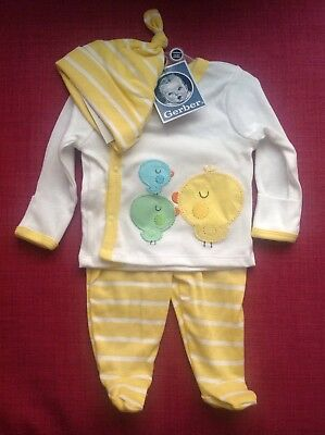 Gerber Newborn 3 Piece Set Nwt Yellow