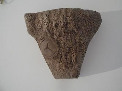 Wall pocket Vase Vintage Willstonia depicting slice of tree with bark and knots