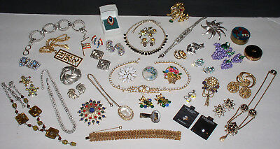 Lot Of Vintage Jewelry.  Some Sets, Rhinestones, A Few Signed