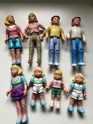 Lot of 8 Fisher Price Vintage Loving Family Dollhouse Family People