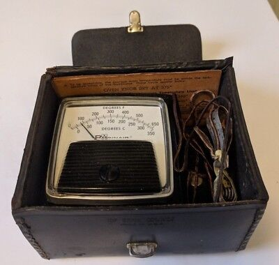 Vintage Robinair Mfd by GE 12473 Oven Temperature Tester Leather Case - Untested