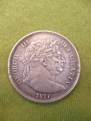 1817 George III : 'Bull Head' Half Crown. Conservatively graded.
