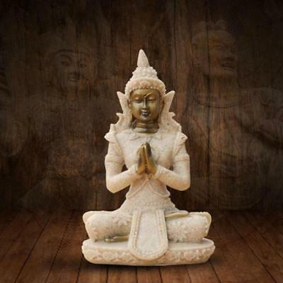 Meditating Buddha Statue Sitting Buddhism Figurine Resin Sculpture Art Zen New