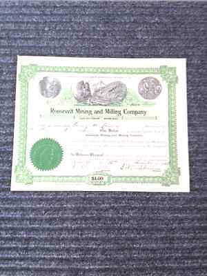 Roosevelt Mining and Milling Co. Stock Ctf.