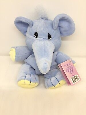Precious Moments Tender Tails Blue Elephant Plush Bean Bag Vintage NEW