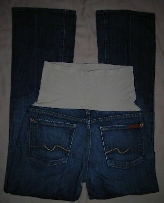 7 FOR ALL MANKIND A Pea In The Pod SECRET FIT BELLY Boot Cut Maternity Jeans 30
