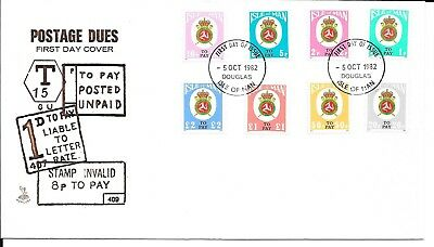 Isle of Man 1982 Postage Dues on First Day Cover