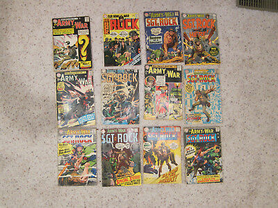 Our army at war Silver Age lot #150,151,157,168,174,187,193,196,201,205,210,224