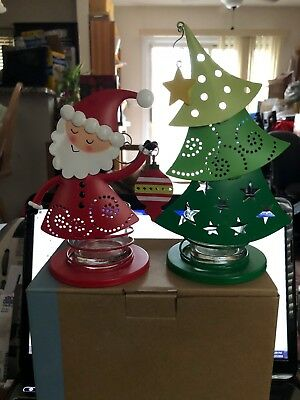 Partylite Christmas Cheer Votive Pair~ Holiday,Christmas, Retired & rare ~ NEW!