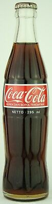 Unopened Indonesia 1988 Coca-Cola ACL glass bottle 295 ml