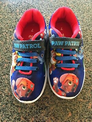 Toddlers paw patrol trainers size 7