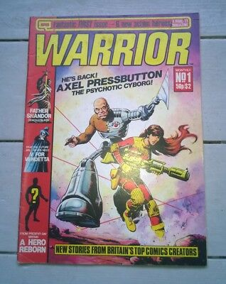 Warrior Monthly Magazine Uk Comic #1 Number One March 1982