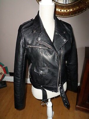 Missguided  Womens  Look Leather Jacket Size 10
