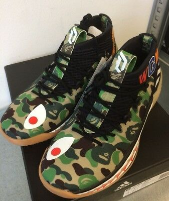 ADIDAS X BAPE DAME 4 AP9974 'A Bathing Ape' Sneakers Shoes Trainers NEW