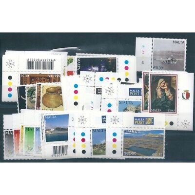 2009 Malta Year Complete 45 Values And 1 Bf New Mnh Mf40763