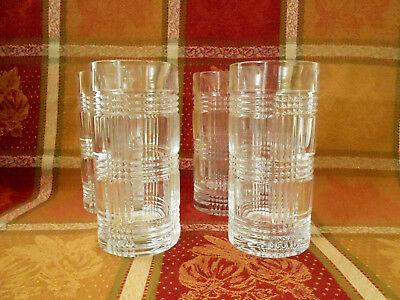 Ralph Lauren GLEN PLAID Set of 4 HIGHBALL Glasses New
