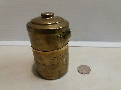 Brass picnic / outdoor / travel stacking cups