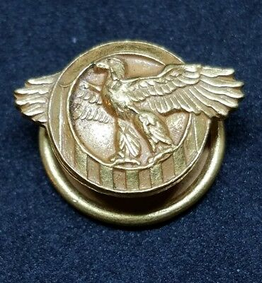 Vintage WWII Honorable Discharge RUPTURED DUCK Brass Button Lapel Pin 1/4""