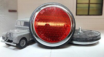 Quality Repro Rear Tub Red Round Reflectors x2 Land Rover Series 1 86 88 107 109